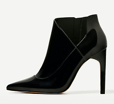 ZARA HIGH HEEL PATENT FINISH ANKLE BOOTS 35-41 REF. 3158/201