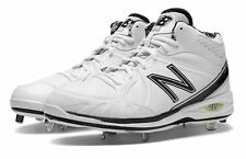 New Balance Mens Baseball 3000 Mid Cut Cleat Shoes White