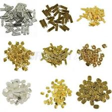 50pcs Gold Silver Charms Jewelry Accessories Heart Beads Made With Love Pendant