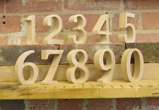 "Free standing wooden table numbers for weddings, events, parties 25cm (10"") tall"
