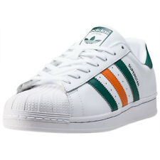 adidas Superstar 2 Tone Stripes Mens Trainers White Orange Green New Shoes