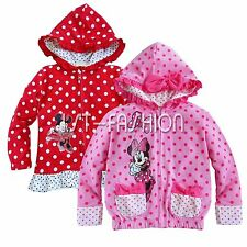Toddler Kids Baby Girls Minnie Mouse Hooded Jacket Coat Hoodies Cotton Outwear