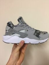 Nike Air Huarache Snow Camo Wolf Grey White Limited Edition