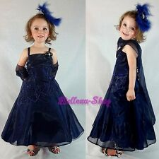 Rhinestones Organza Wedding Flower Girl A-line Dress Pageant Party Sz 2T-13 #188