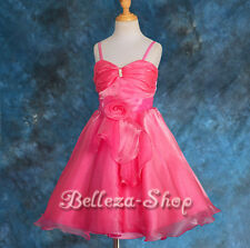 50% OFF SALE Diamante Wedding Flower Girl Pageant Party Occasion Dress 2T-9 072B