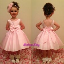 Pink Diamante Occasion Dress Wedding Flower Girl Pageant Party Size 18m-8 FG268