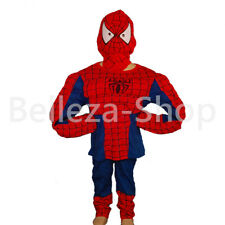 Superhero Spiderman Kid Cosplay Muscle Costume HALLOWEEN Party Size 3T-8 FC005
