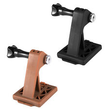 For Gopro Hero Cameras Selfie Helmet Fixed Mount Holder with Screw Black/Brown