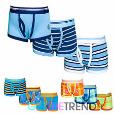 3 Pack Boys Boxers Shorts Plain Stripe Underwear Pants Cotton Trunks Multipack