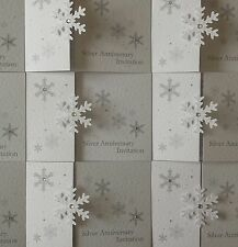 A6 gate fold * SNOWFLAKE * WEDDING INVITATION INVITE INVITES STATIONERY sample