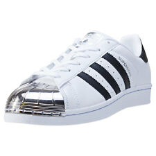 adidas Superstar Metal Toe Womens Trainers White Silver Blue New Shoes