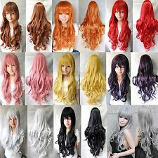 """Fashion Hot Women Long Wavy Curly Hair Anime Cosplay Party Wig Full Wigs 32"""""""