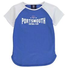 Team Childrens Pompey Graphic T-Shirt Girls Stamp Crew Short Sleeve Top Clothing