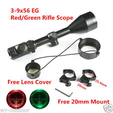 Tactical 3-9x56 EG Red Green Dual illuminated Reticle Optical Sniper Rifle Scope