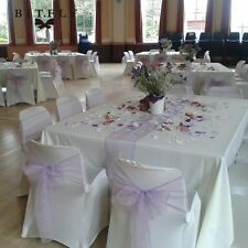 """Set Of 12""""x108"""" And 7""""x108"""" Table Runners Chair Sashes Organza DIY Wedding Party"""