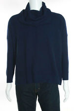 Joie Men's Navy Blue Cotton Ribbed Knit Trim Long Sleeve Turtleneck Sweater Size