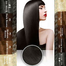 100% Real Silky Clip in Remy Human Hair Extensions Premium Full Head 8PCS N687