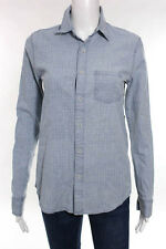 Joes Jeans Light Blue Cotton Plaid Button Down Shirt Size Extra Small $148 New