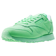 Reebok Classic Leather Pastels Womens Trainers Light Green New Shoes