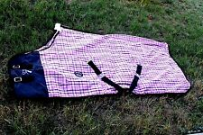 Horse Cotton Sheet Blanket Rug Summer Spring Pink Black 5336