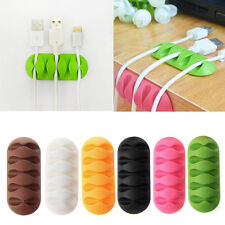 5-Clip Unique Earphone Cable Winder Organizer Charger TPR Holder Fixing Device