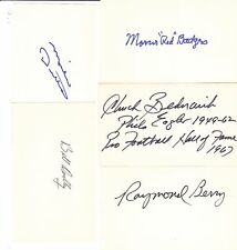 25  PRO FOOTBALL HALL OF FAMERS SIGNED  3x5 INDEX CARDS HOF FAME (19 Deceased)