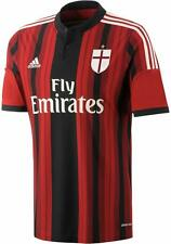 Adidas Mens AC Milan Football Home Player Jersey Shirt 2014/15 Red Black White