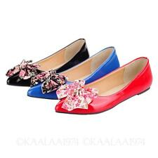 Bow Dolly Shoes Womens Ballet Flats AU sz 2 3 4 5 6 7 8 9 10 11 12 13 14 15