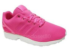 Adidas Originals Girls Womens ZX Flux Trainers Sports Gym Shoes Pink (#10184)