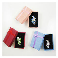 12 PENDANT CARD JEWELLERY DISPLAY GIFT BOXES (8x5x3cm) *3 COLOURS* CRAFTS GIFTS