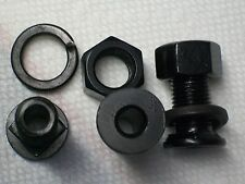 HOLLOW Bolt Center Hole Drilled  junk drawer find bag of bolts black painted new