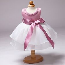 Infant Baby Flower Girls Baptism Christening Dress Birthday Party Tutu Dresses