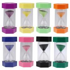 Sandglass Hourglass Cooking Exercising Sand Timer wi/ Hexagonal Lid 5/10 Minutes