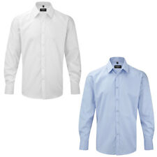 """New Russell Collection Mens Long Sleeve Herringbone Shirt Collar Size 14.5-19.5"""""""