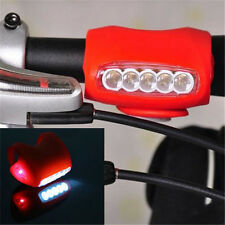 Cycling Bike Bicycle Red Silicone 7 LED Frog Front Head Light Rear Warning A