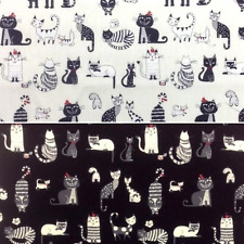 Sale Oyama Cats Life Kittens 100% Japanese Cotton Fabric (Lecien)