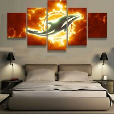 Framed Home Decor Canvas Print Painting Wall Art Miami Dolphins Poster