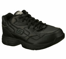 76555 EW Wide Width Black Skechers Shoes Women's Work Memory Foam Slip Resistant