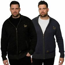 Hamnet Gold Mens King Plus Big Size Zip Up Knitted Cardigan Knitwear Sizes L-6XL