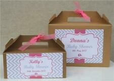 PERSONALISED GIFT BAG BOX FAVOUR - Baby Shower Vintage Boy/Girl Pink Blue Unisex