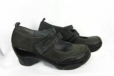Adventure On J-41 Wedge Mary Jane Shoes Olive Suede Leather Comfort Walking