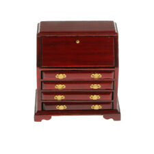 1/12 Scale Dolls House Miniature Furniture Accessory Wooden Table Chair Cabinet
