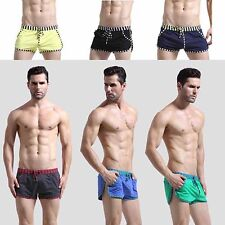 Men Boxer Brief Sports Beach Causal Shorts Stripped Pockets Slim Young Pants