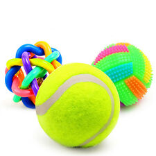 3 pieces / lot 2017 New Pet Dog Toys Squeak Rubber Dog Toys Ball Dog Chew Toys