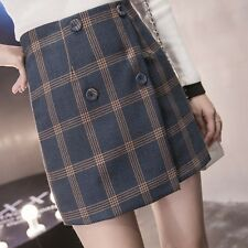 Autumn And Winter Women Wind Fashion Button Woolen High Waist A-line Skirt