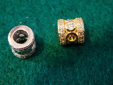 bead spacers gold plated jewellery findings jewellery making craft UK