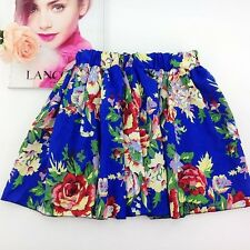 Spring Fashion Casual Wear Chiffon Material Printed Above Knee Skirt For Women