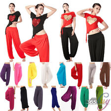 Womens Causal Harem Genie Aladdin Gypsy Baggy Dance Yoga Pants Trousers GYM PANT