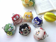 6/12/24/48PCS Mixed cute Owl Shaped Clutch Change Coin Bags Wallet wholesale