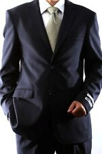 MENS 2 BUTTON SUPER 140S WOOL MAX NAVY SLIM FIT DRESS SUIT, 47012H-47002-NAV